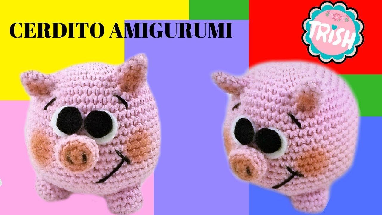 Tutorial Amigurumi Cerdito : 🐷🐷como montar el cerdito amigurumi 🐷🐷 youtube