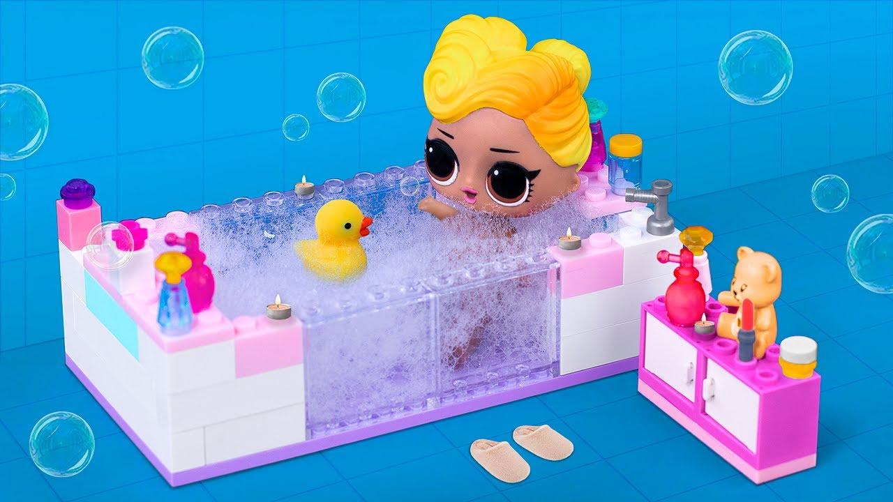 Мебель для Барби и ЛОЛ из Лего – 12 идей! - YouTube