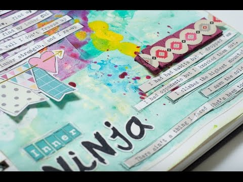 Art Journal Process: Inner Ninja