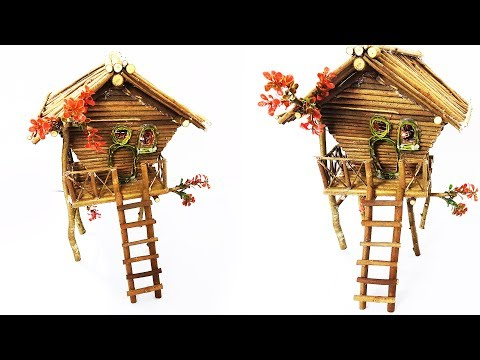 Wooden Fairy House Lamp  | Twig Fairy House Lamp |DIY|
