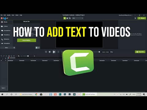How to Add Text To Video - Camtasia 2019 Tutorial