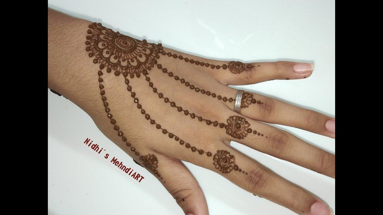 simple mehndi designs for kids back hand