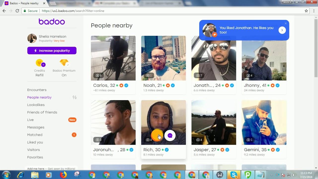 Badoo username search