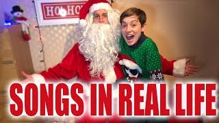 Christmas Songs In Real Life - Kids Catch Santa!!