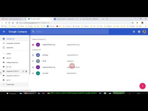 Add or remove contacts, labels or groups in gmail or google products 2018