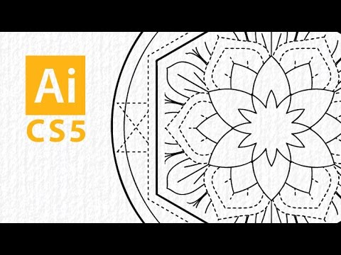 Making mandalas in Adobe Illustrator