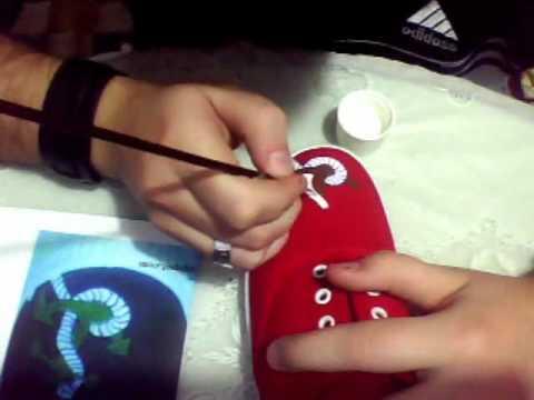 Como pintar zapatillas betty boop wmv youtube - Como pintar azulejos a mano ...