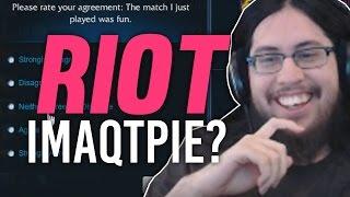 Imaqtpie - RIOT ASKS ME HOW TO IMPROVE LEAGUE?