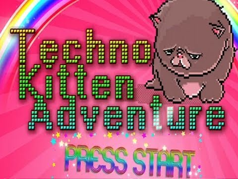 Techno Kitten Adventure: AMAZING Indie Game w/Nova