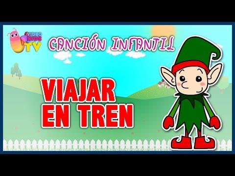 ♫♪ VIAJAR EN TREN ♫♪ canción infantil completa con dibujos animados