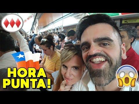 Cómo es viajar en el Metro de Santiago en hora punta ⚠️