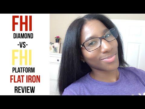FHI Black Diamond Digital VS FHI Heat Platform Flat Iron Review & Tutorial   VaughnTwins