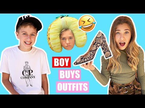 BOY BUYS MY OUTFITS Challenge | First Video With A Boy ❤️ | Rosie McClelland