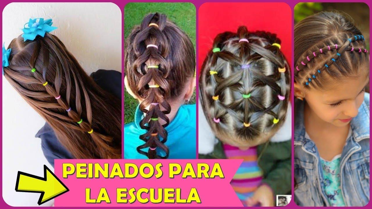 4 Peinados Fáciles Y Rápidos Para Niñas Para La Escuela Youtube