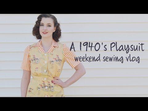 A 1940's Playsuit! - Weekend Sewing Vlog