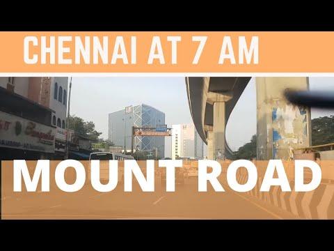 Chennai city mount road travel @ 7 am.