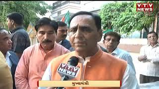 Gujarat State Health Minister Kumar Kanani give the vote