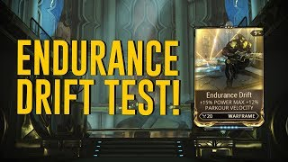 Endurance Drift Test & All You Need To Know [Halls of Ascension] (Warframe)