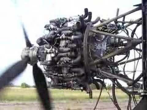 Wright 3350 Radial Engine - YouTube