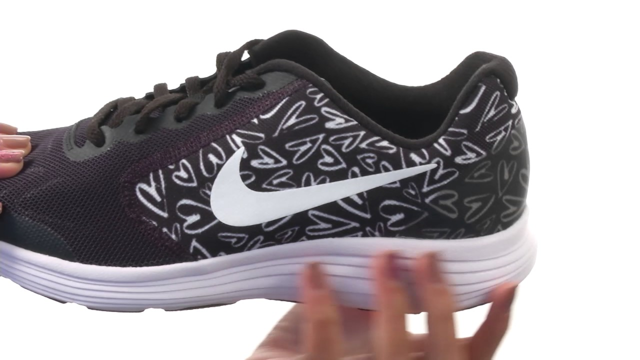 876c6b4fcb188 Nike Kids Revolution 3 Print (Big Kid) SKU 8800889 - YouTube