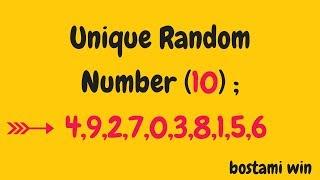 how to generate unique random number in java