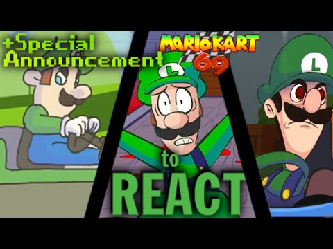 Luigikid Reacts To Luigi Death Stare Luigi Kart Mario Kart 69 Special Announcement