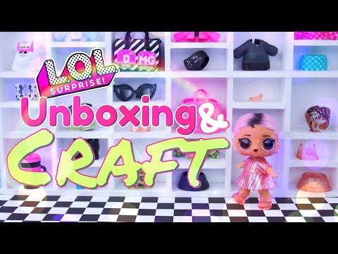 Unboxing & Craft: LOL Surprise Outfit Of The Day Set PLUS DIY Storage