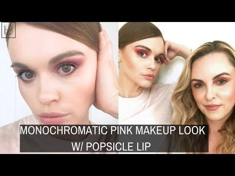 MONOCHROMATIC PINK MAKEUP LOOK W POPSICLE LIP Holland Roden