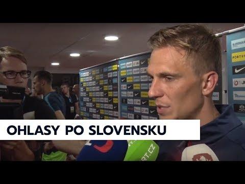Michael Krmenčík a Bořek Dočkal po výhře nad Slovenskem