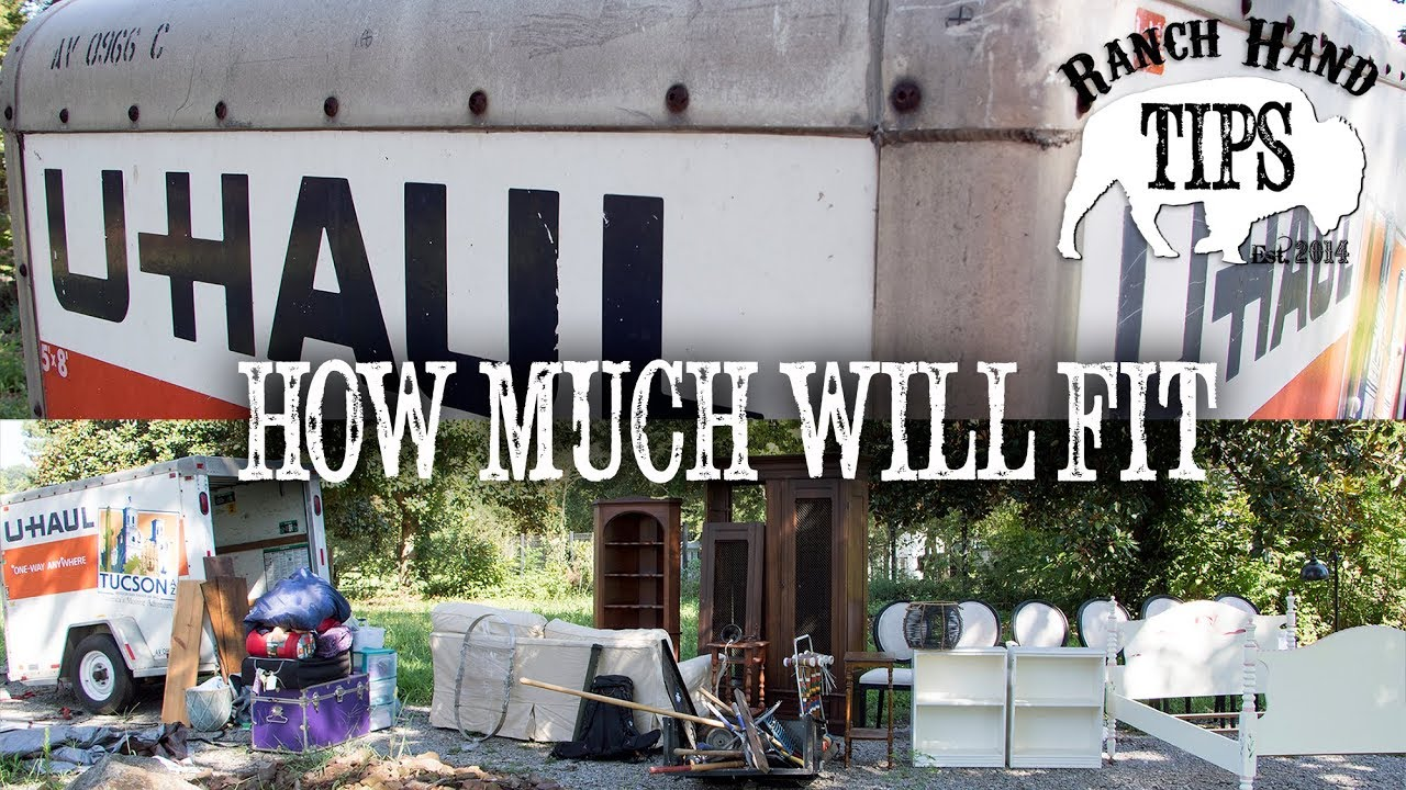 How much can you fit in a U-Haul Cargo Trailer?