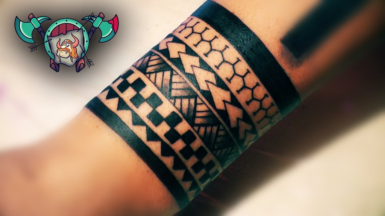 Maori Bracelet Tattoo Time Lapse Loktar Tattoo Timisoara Youtube