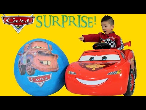 Thumbnail: Disney Cars Giant Surprise Egg Lightning McQueen Toys Unboxing and Opening Fun With Ckn Toys