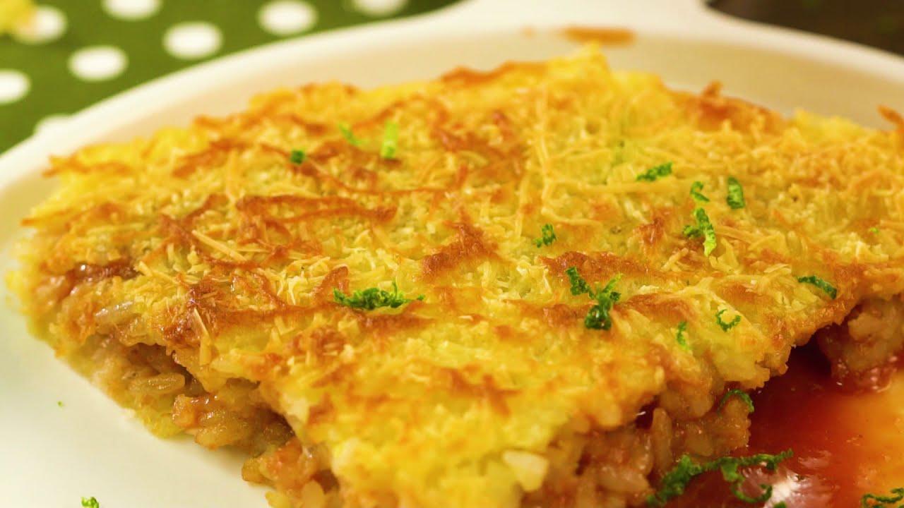 ¡DELICIOSA! Torta de arroz con Kikes rellena de bocadillo