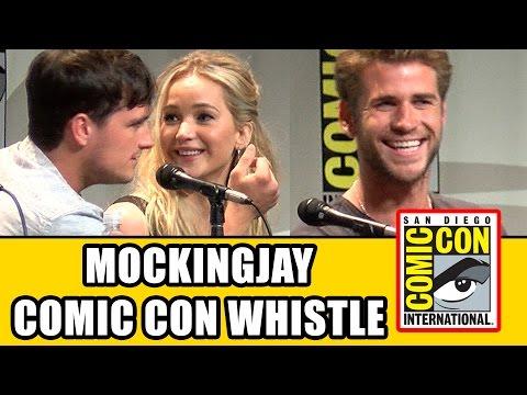 The Hunger Games Mockingjay Comic Con Whistle - Jennifer Lawrence, Josh Hutcherson, Liam Hemsworth