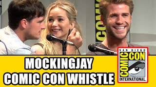 The Hunger Games Mockingjay Comic Con Whistle - Jennifer Lawrence, Josh Hutcherson, Liam Hemsworth
