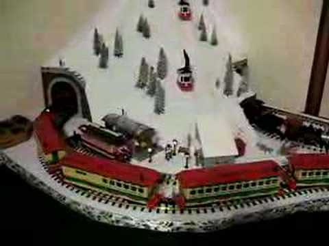G Scale model train holiday layout