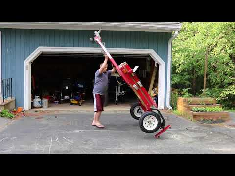 Harbor Freight folding trailer ready to use in 4 minutes