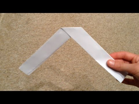 How to make a paper boomerang (really easy)
