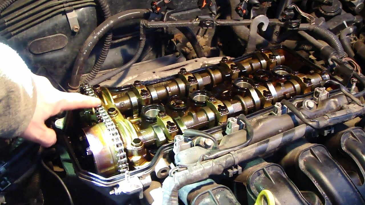 how to check timing chain status vvt i engine toyota years 2000 to 2008  [ 1280 x 720 Pixel ]