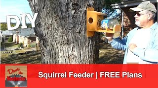 In this video, I show how to make a Squirrel feeder using a Single picket fence board, a pickle jar and some screws. Easy to follow