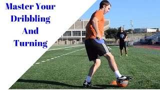 Soccer drill to improve your dribbling and turning