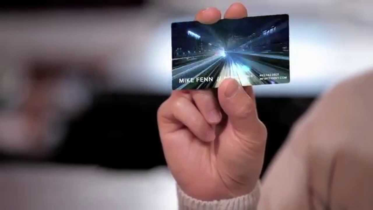 The best business cards lcd video business cards april fools 2014 the best business cards lcd video business cards april fools 2014 youtube reheart Images