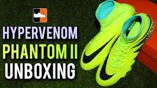 Hypervenom Phantom New Upper Unboxing | Spark Brilliance Nike Volt Yellow Football Boots