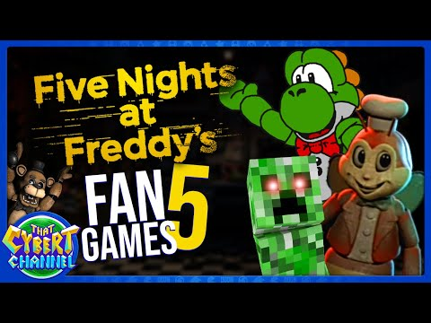 FNAF Fan Games 5: The Freddy Files, Jollibees Phase 2, & More 🔴 That Cybert Channel