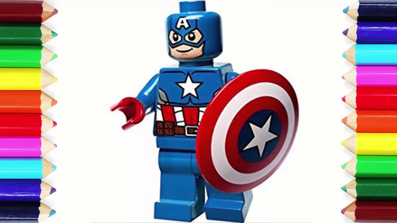 Printable Lego Marvel Superheroes Captain America Coloring: How To Draw Lego Captain America Max Perfect And Cool