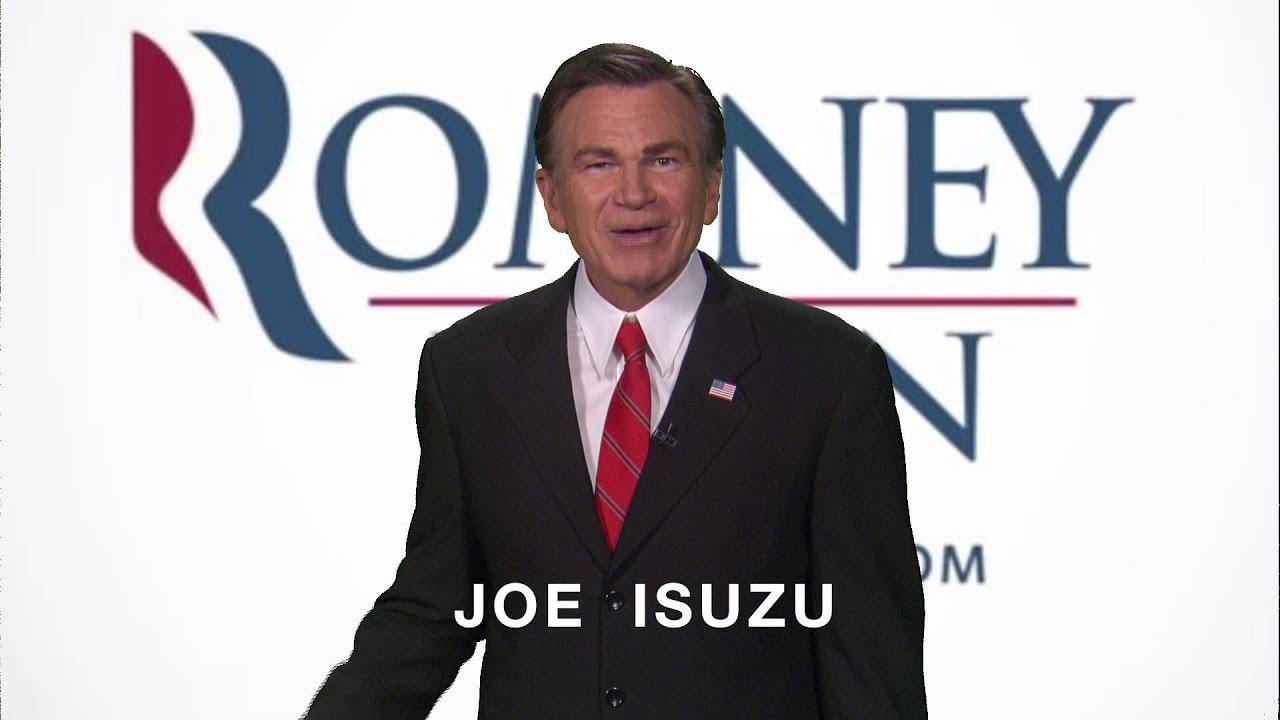 joe isuzu endorses mitt romney s policy on women youtube