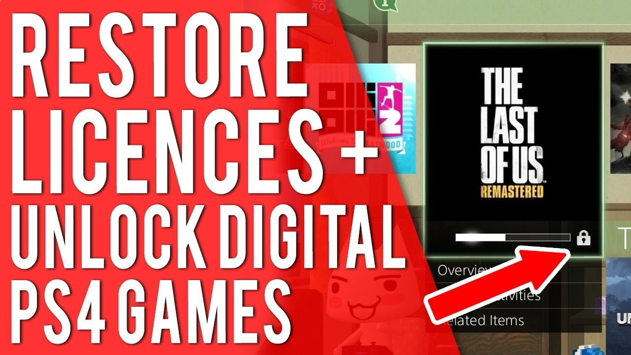 How To Restore Licenses On PS4 - How To Unlock Your Digital PS4 Games - PS4  Tutorial