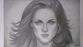 Kristen Stewart - Bella Swan on Twilight / Crepúsculo - Dibujo/Drawing | How To Draw