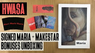 """[Makestar] Signed Hwasa - """"María"""" (1st Mini Album) Unboxing + Opening 4 Albums! 