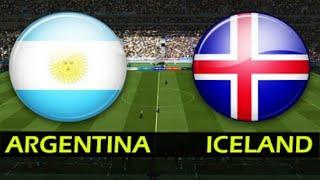 PENYISIHAN GRUP D PIALA DUNIA 2018! ARGENTINA VS ISLANDIA -PES GAMEPLAY